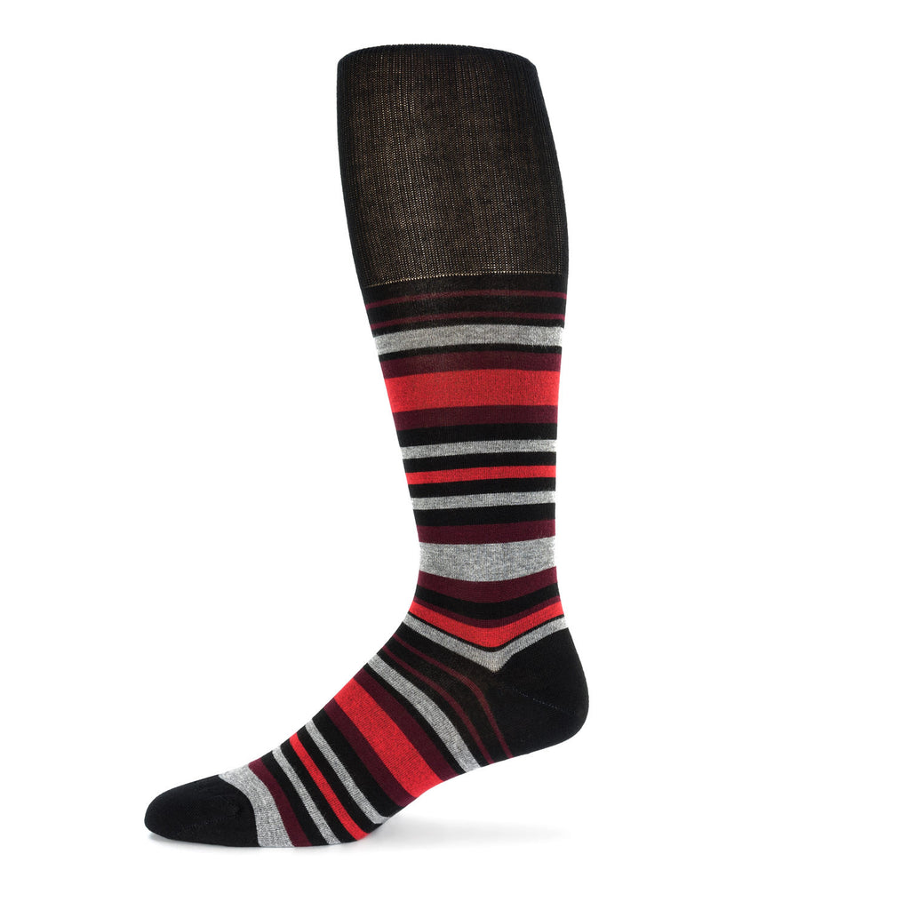 Red Striped Dress Sock