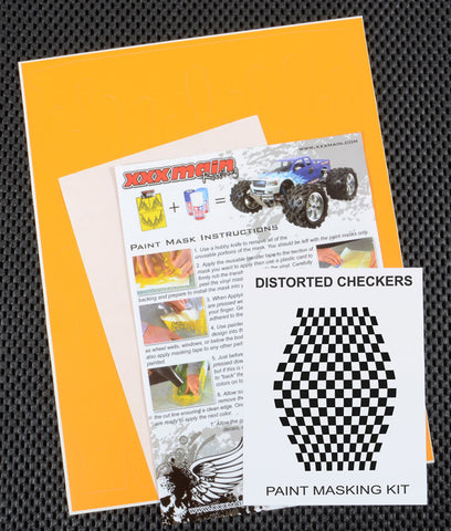 Distorted Checkers Paint Mask Kit
