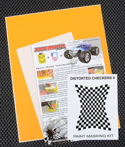 Distorted Checkers II Paint Mask Kit