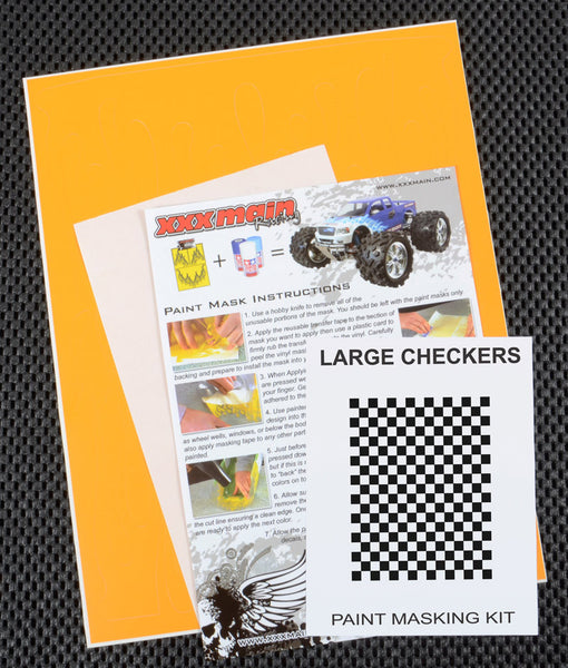 Large Checkers Paint Mask Kit