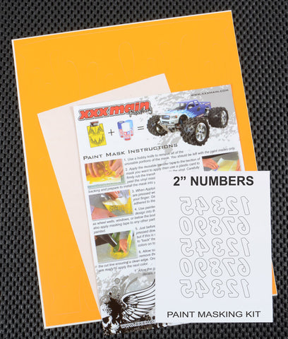 "2"" Reverse Numbers Paint Mask Kit"