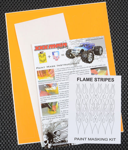 Flame Stripes Paint Mask Kit