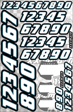 Race Number Set - White