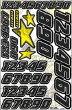 Star Number Set - Carbon