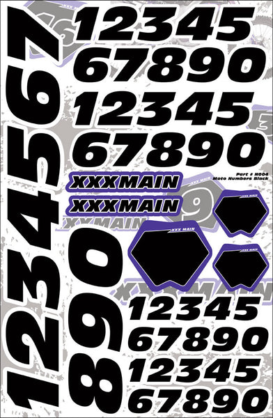 Moto Number Set - Black