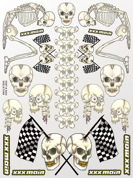 Skeletons Sticker Sheet