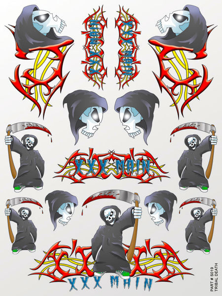 Tribal Death Sticker Sheet