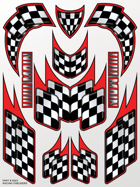 Racing Checkers Sticker Sheet