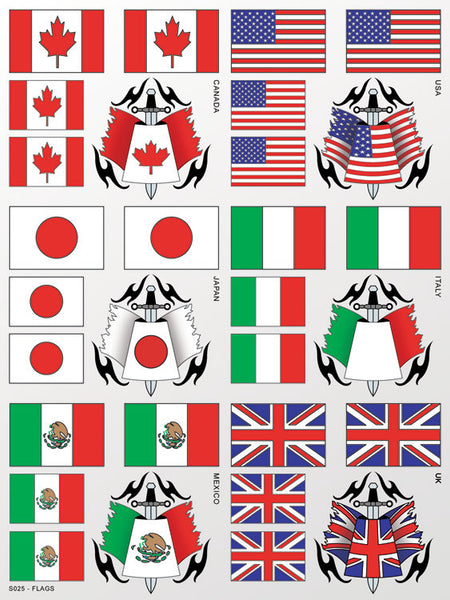 Flags Sticker Sheet