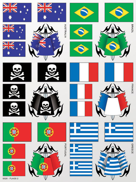 Flags 2 Sticker Sheet