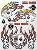Texas Holdem Sticker Sheet