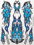 Cold Carbon Fire Sticker Sheet