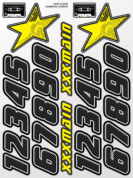 Numbers Carbon Sticker Sheet (SOLD OUT)