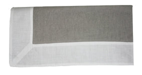 Large Grey Linen Tablecloth