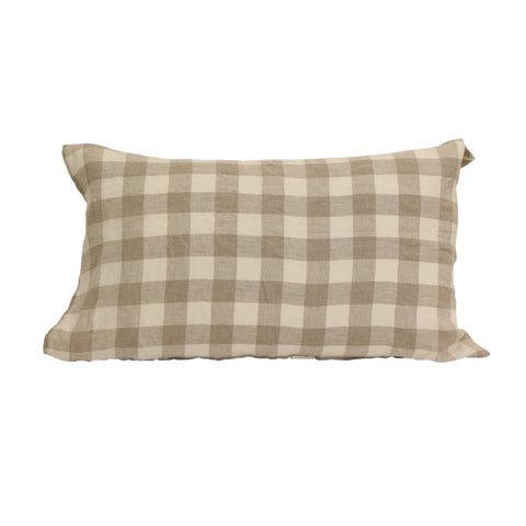 Set of 2 Natural Chequer Pillows
