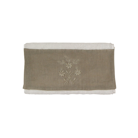 Small Flower Handtowel Taupe