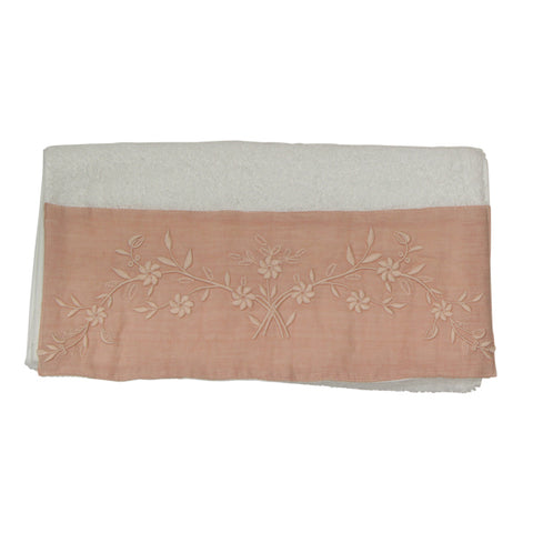 Large Flower Handtowel Blush