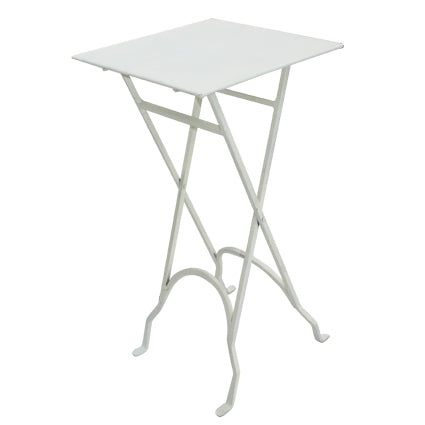 Square Iron Side Table White