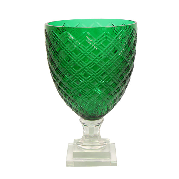 Emerald Large Diamond Cut Hurricane