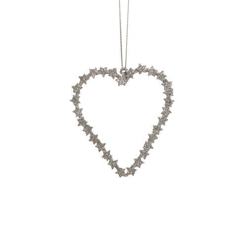 Silver Metal Hanging Heart