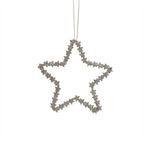 Silver Metal Hanging Star