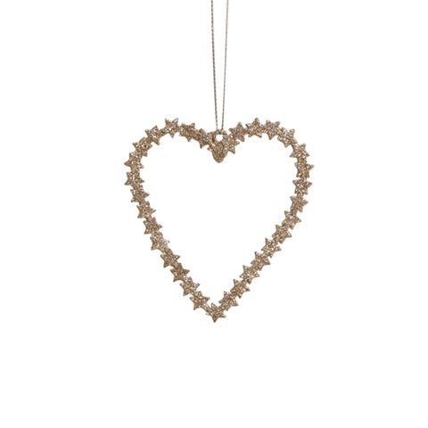 Champagne Metal Hanging Heart