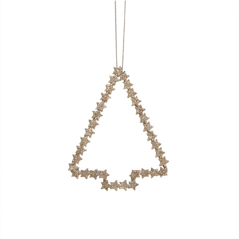 Champagne Metal Hanging Tree