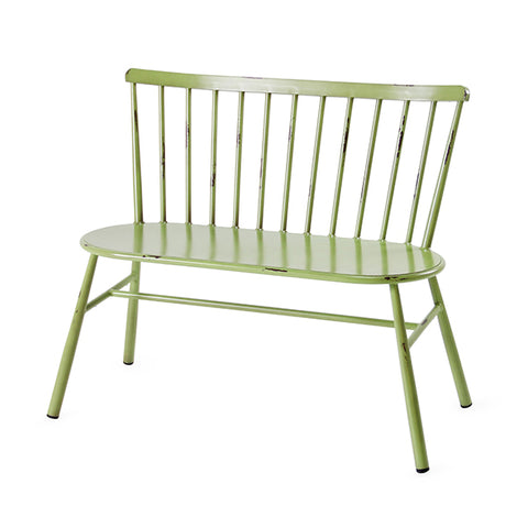 Retro Green Outdoor Two Seater Chair