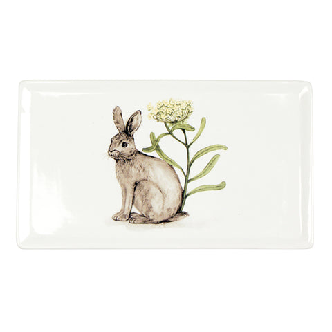 Rect Rabbit with Flower Plate