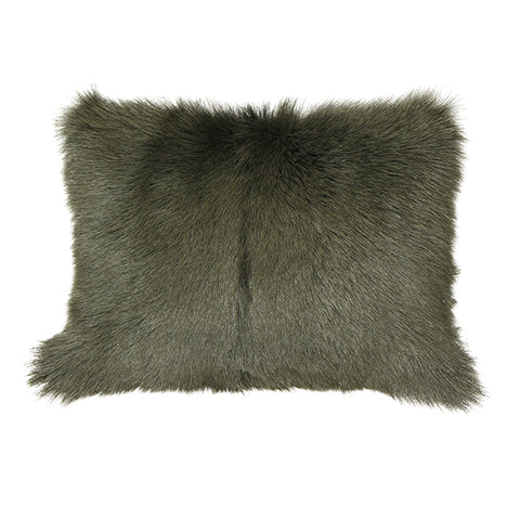 Khaki Goat Fur Cushion