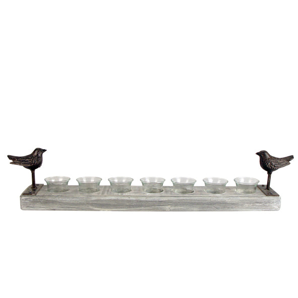 Woodland Bird 7-Tealight Holder