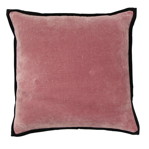Berry Velvet Cushion with Trim