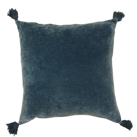 Boudoir Blue Tassled Cushion
