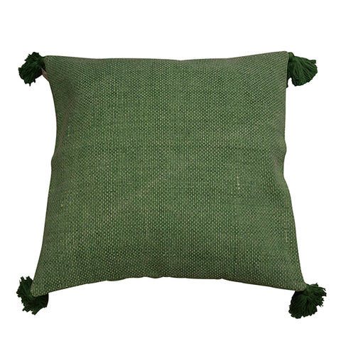 Green Tassel Cushion 60x60