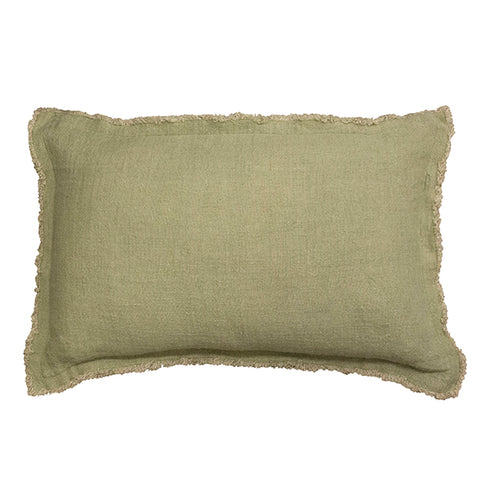 Sage Fray Cushion 40x60