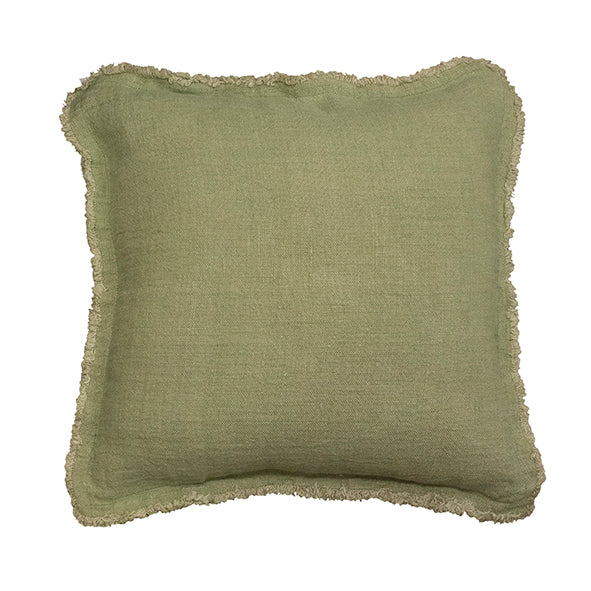 Sage Fray Cushion 50x50