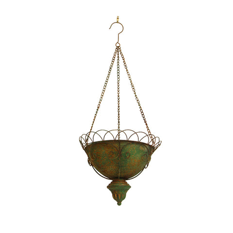 Lea Metal Hanging Planter with Round Wire