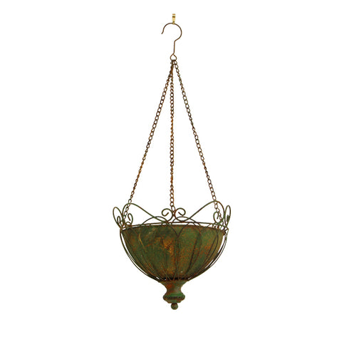 Lea Metal  Hanging Planter with Filagree Wire