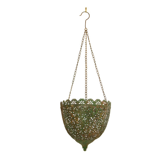 Large Lea Filagree Hanging Planter
