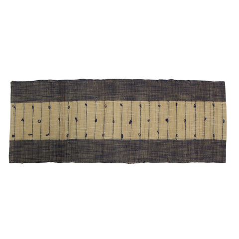 Ramie Natural and Blue Table Runner