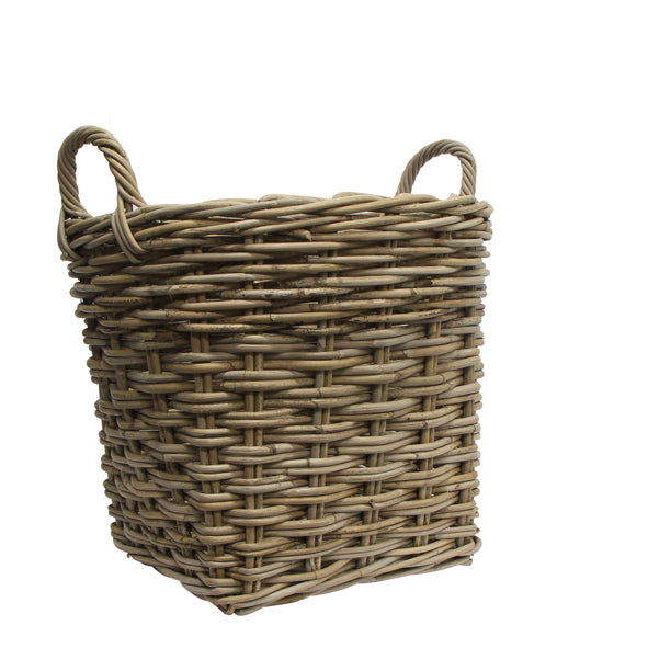 Large Round Woven Basket with Handle