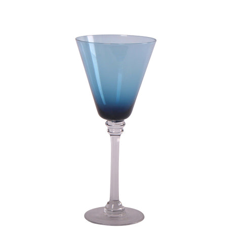 Cobalt Blue Wine Glass