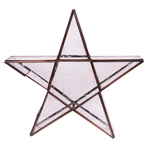 Light Up Glass Star Large