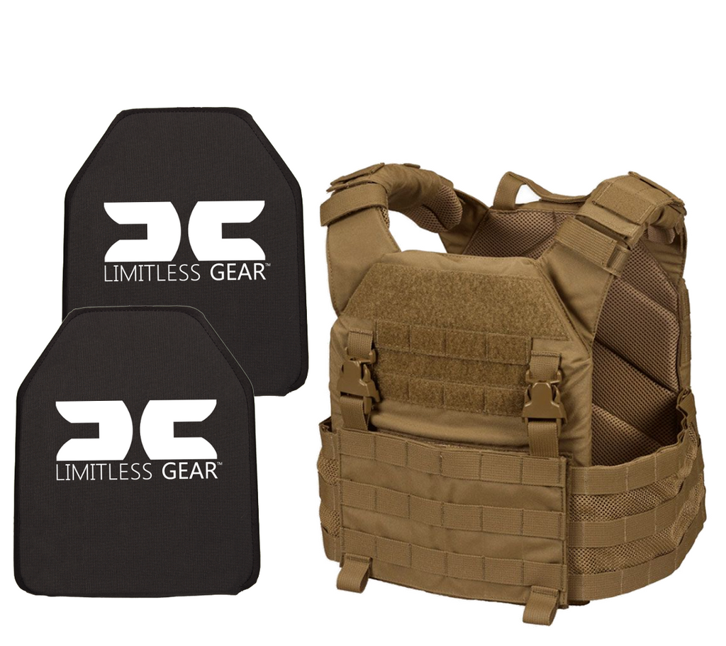 Limitless Gear LOPC Active Shooter Kit With Level III+ Single Curve Hard Armor Plates NIJ 07 Tested
