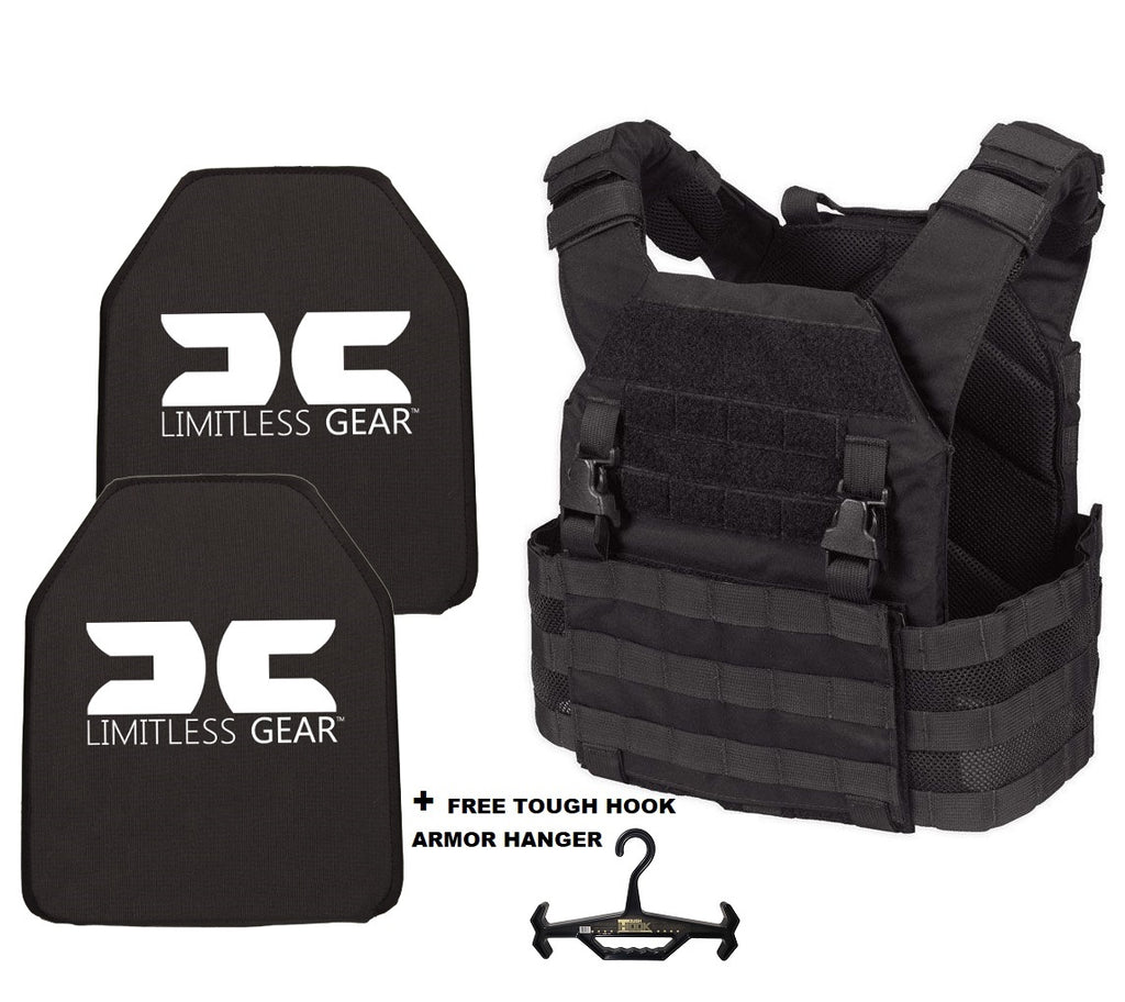 Limitless Gear LOPC Active Shooter Kit With Level IV Hard Armor Plates  NIJ 0101.06 CERTIFIED 10 YEAR WARRANTY CPL LISTED