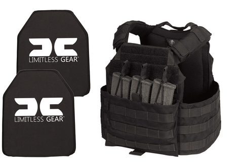 Limitless Gear MEAC Active Shooter Kit With Level III+ Single Curve Hard Armor Plates NIJ 07 Tested