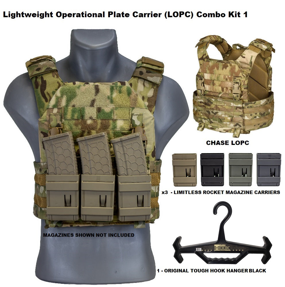Lightweight Operational Plate Carrier (LOPC) Combo Kit 1 - Chase Tactical