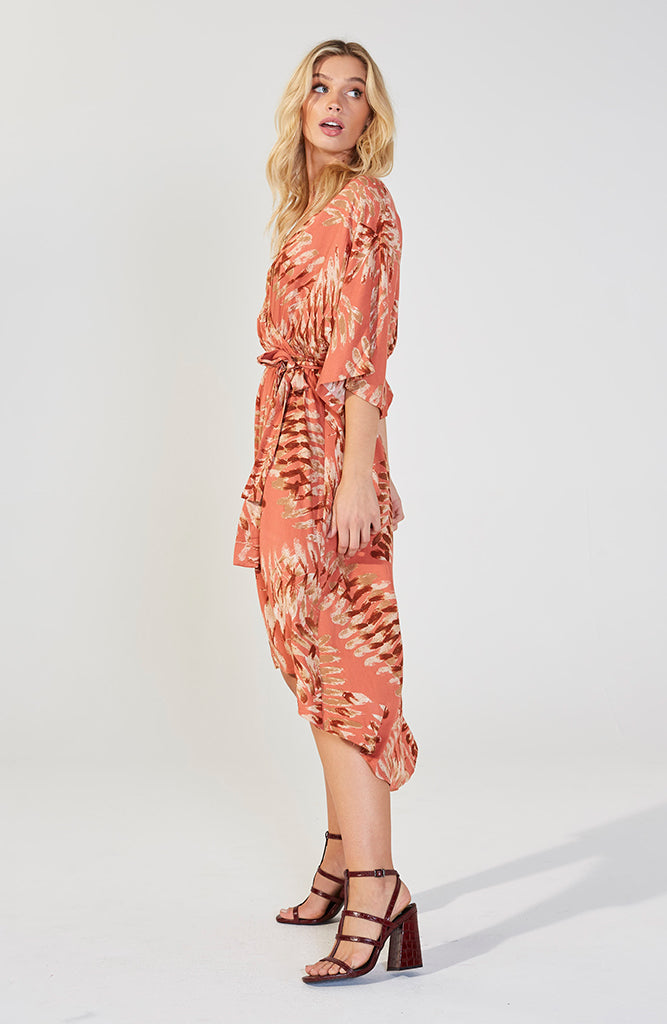 Dragonfly Wrap Midi Dress