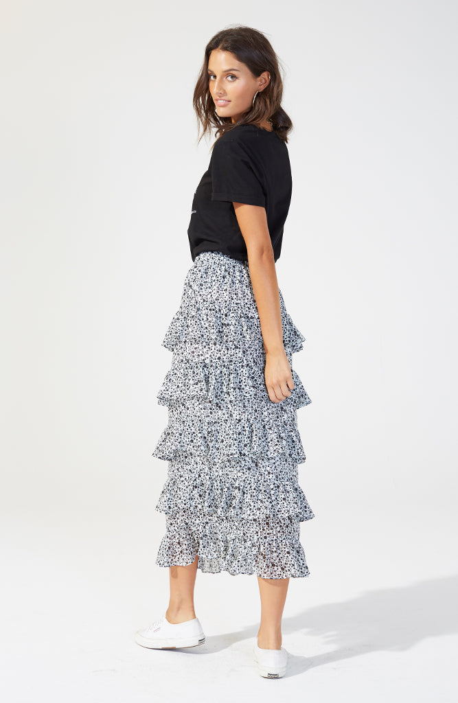 Lovelorn Chiffon Midi Skirt