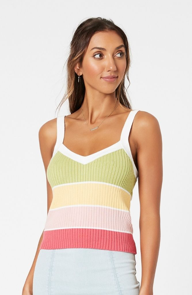 CECILY STRIPE KNIT TOP
